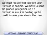 optimal learning conditions20