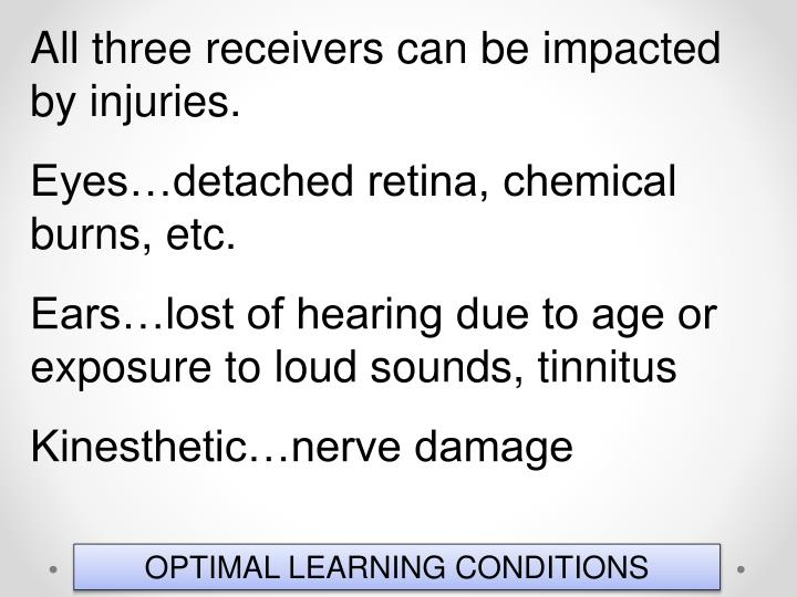 All three receivers can be impacted by injuries.