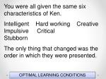 optimal learning conditions3