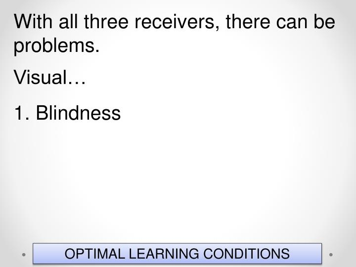 With all three receivers, there can be problems.