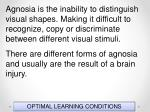 optimal learning conditions38