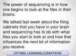 optimal learning conditions4