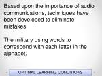 optimal learning conditions43