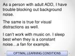 optimal learning conditions47