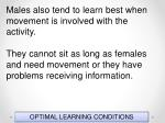 optimal learning conditions54
