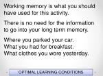 optimal learning conditions64
