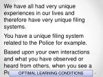 optimal learning conditions71