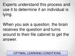 optimal learning conditions80