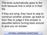 optimal learning conditions81
