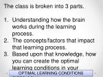 optimal learning conditions9