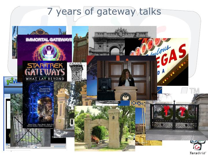 7 years of gateway talks