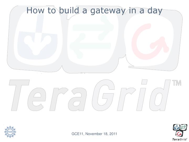 How to build a gateway in a day