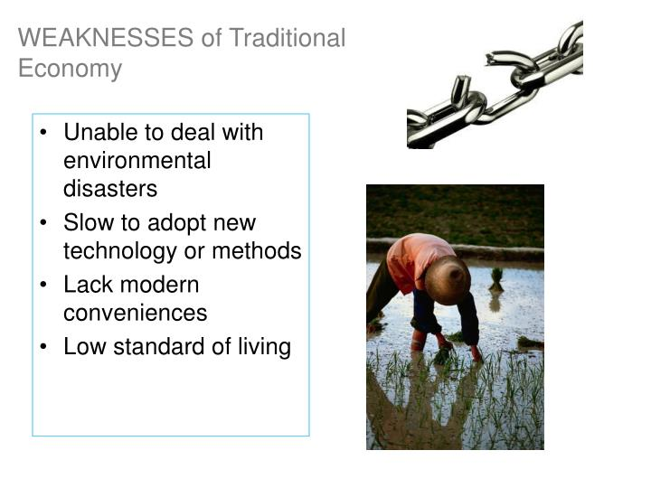 WEAKNESSES of Traditional Economy