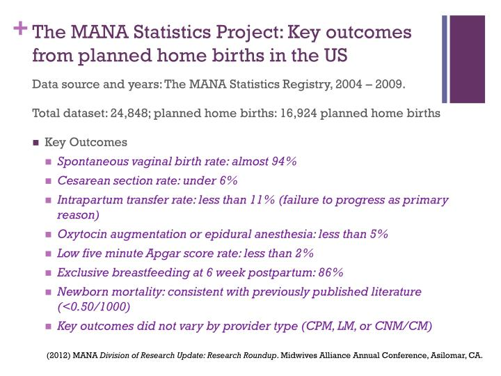 The MANA Statistics Project: Key