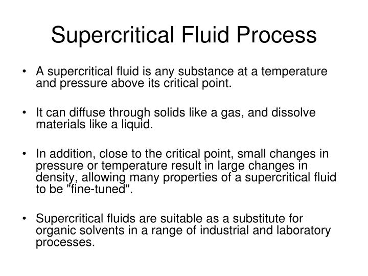 Supercritical Fluid Process