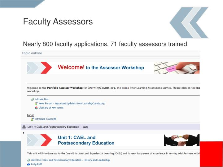 Faculty Assessors