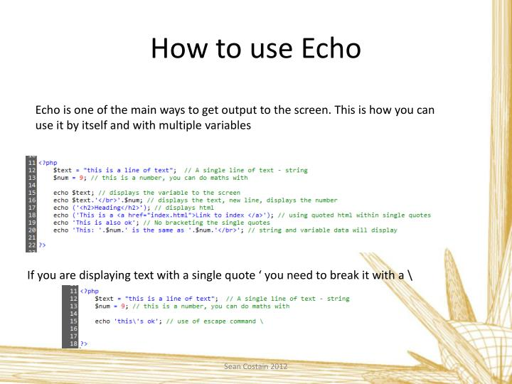 How to use Echo