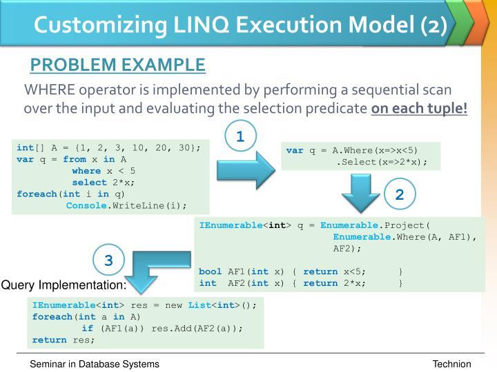 Customizing LINQ Execution Model (2)