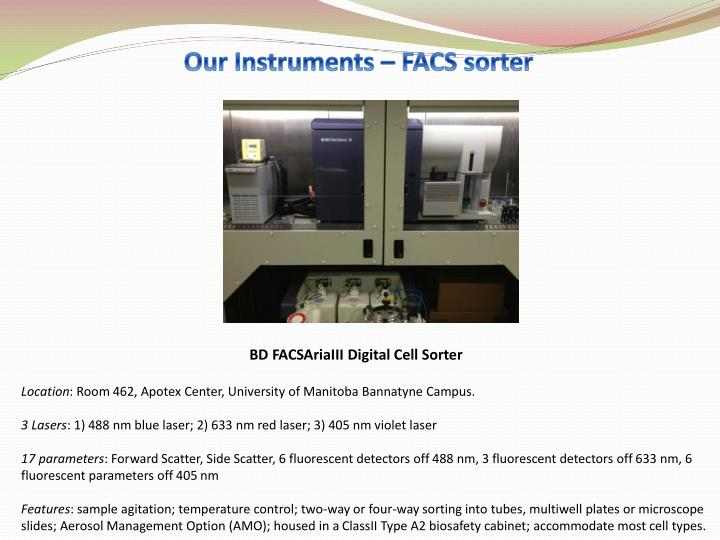 Our Instruments – FACS sorter