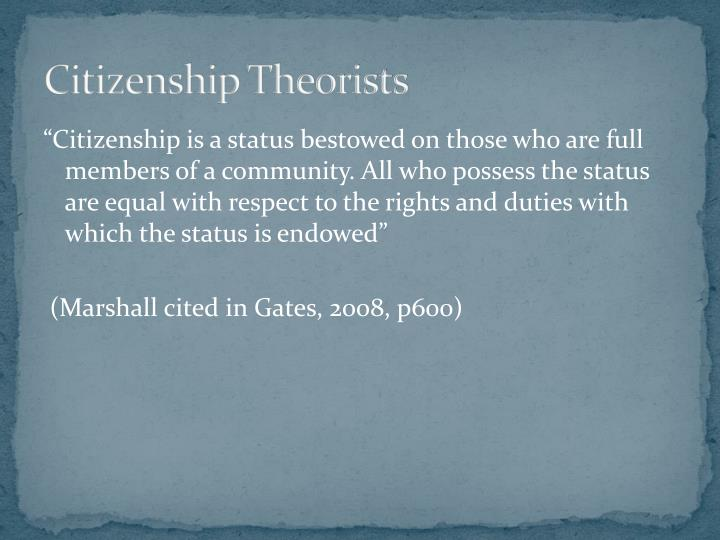Citizenship Theorists