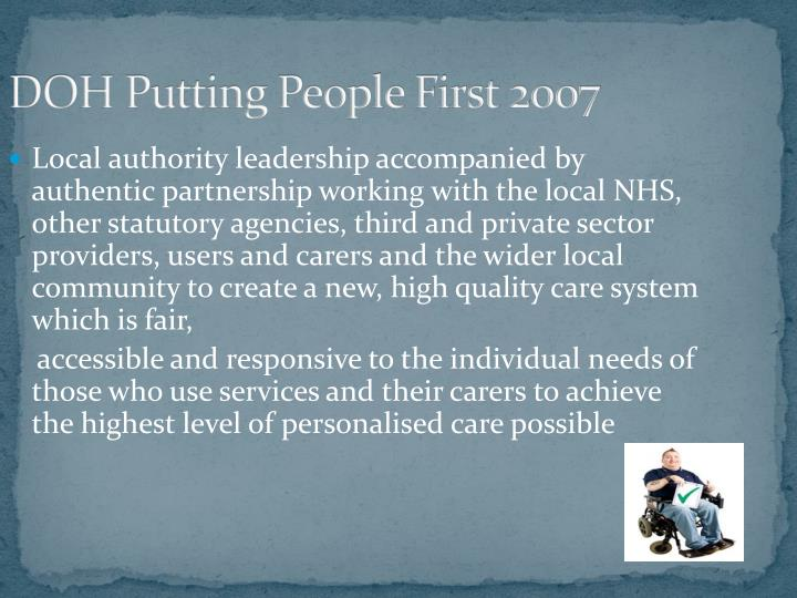 DOH Putting People First 2007