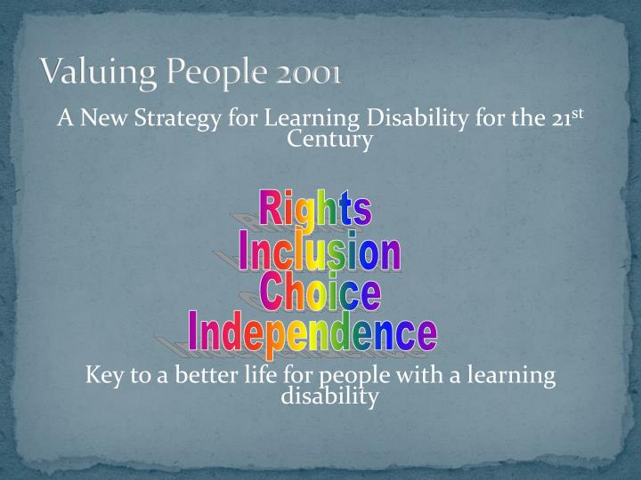 Valuing People 2001
