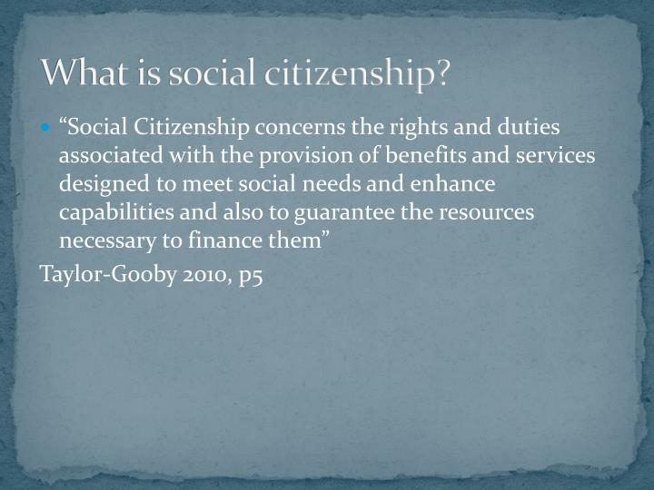 What is social citizenship?