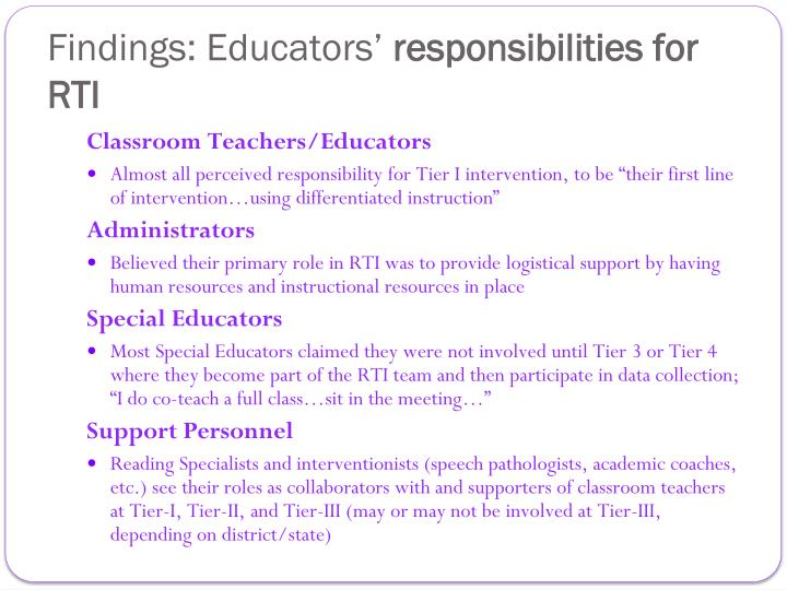 Findings: Educators'