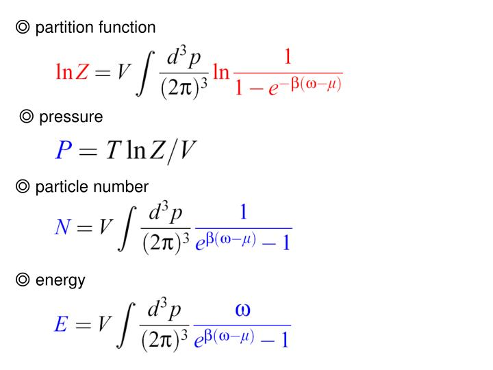 ◎ partition function