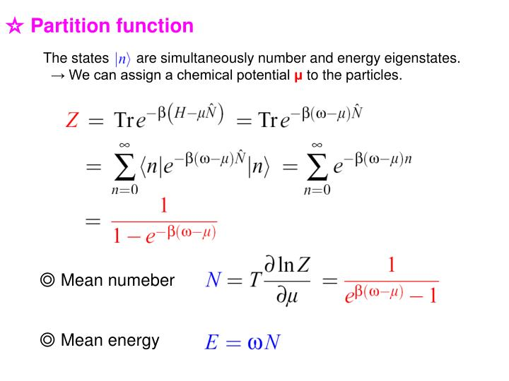 The states       are simultaneously number and energy eigenstates.