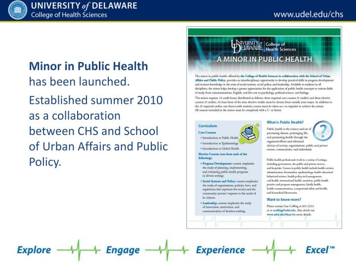 Minor in Public Health
