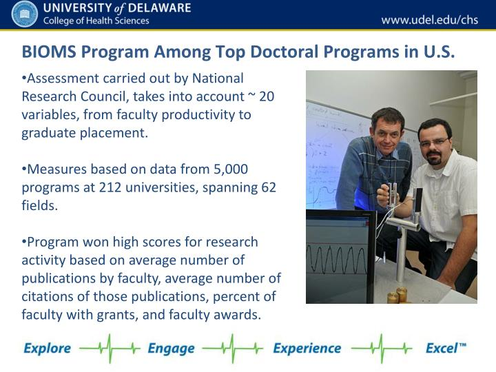 BIOMS Program Among Top Doctoral Programs in U.S.