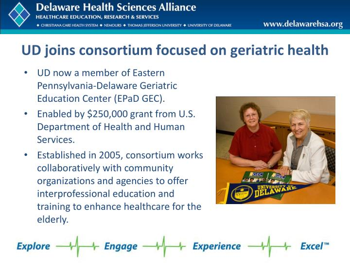 UD joins consortium focused on geriatric health