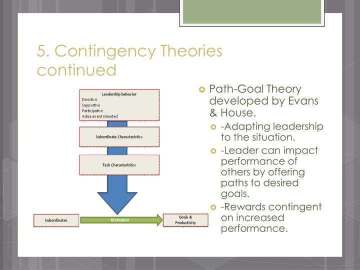 5. Contingency Theories continued
