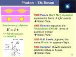 photon em boson