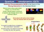 quantum c h r omodynamics qcd