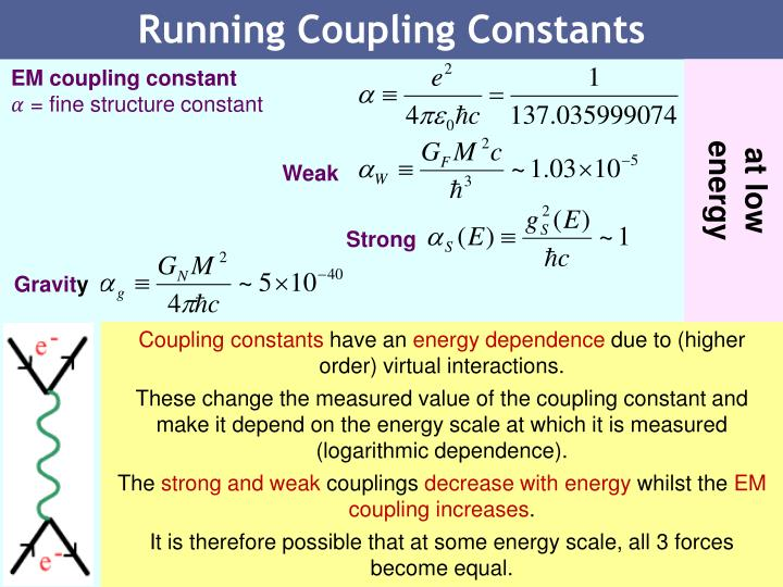Running Coupling Constants