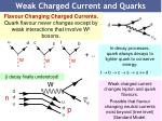 weak charged current and quarks
