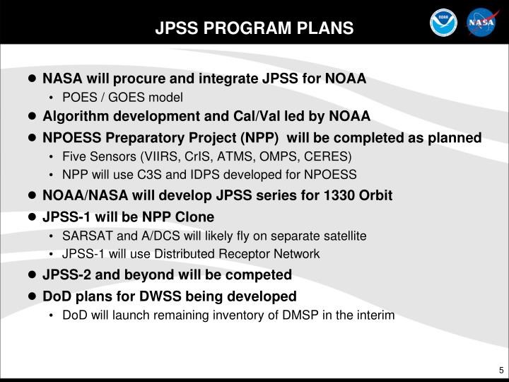 JPSS PROGRAM PLANS