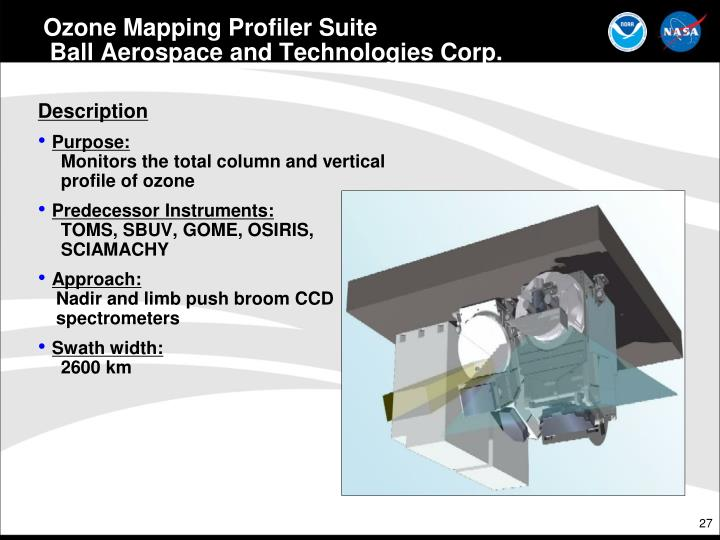 Ozone Mapping Profiler Suite