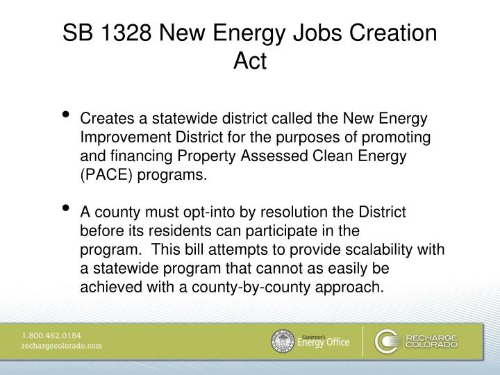 SB 1328 New Energy Jobs Creation Act