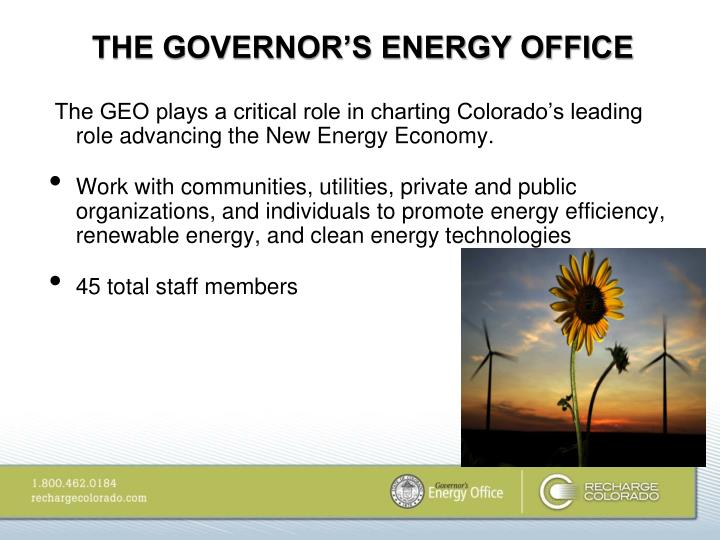 THE GOVERNOR'S ENERGY OFFICE