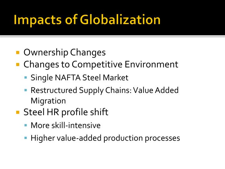 Impacts of Globalization