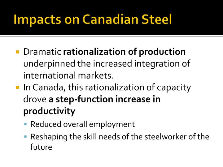 Impacts on Canadian Steel