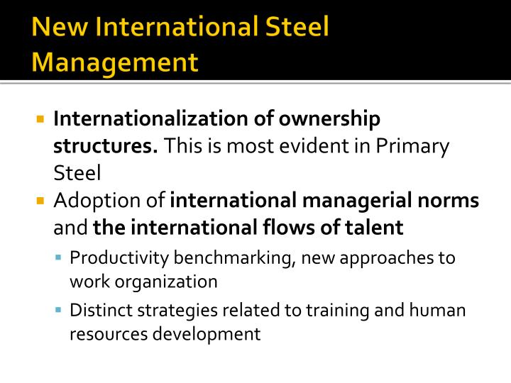 New International Steel Management