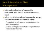 new international steel management
