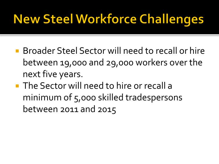 New Steel Workforce Challenges