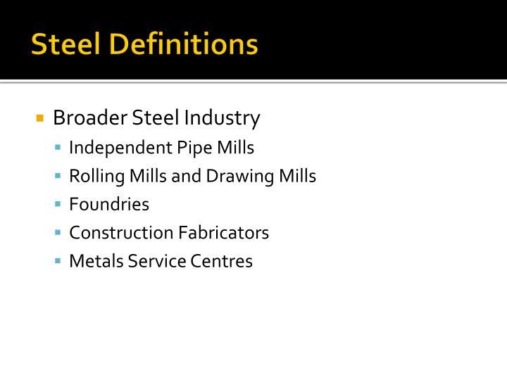 Steel Definitions