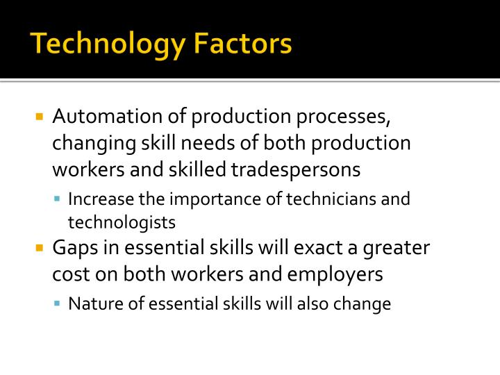 Technology Factors