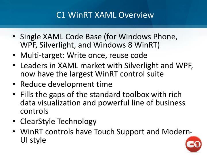 C1 WinRT XAML Overview